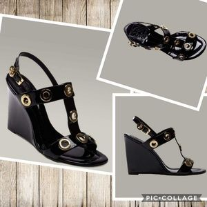 Tory Burch Kathryn Wedge Patent Leather Sandals